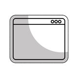 Web page template isolated icon. Illustration design Royalty Free Stock Photography