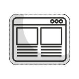 Web page template isolated icon. Illustration design Royalty Free Stock Images