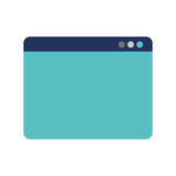 Web page template isolated icon. Vector illustration design Royalty Free Stock Images