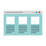 Web page template isolated icon. Vector illustration design Stock Image