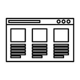 Web page template isolated icon. Vector illustration design Royalty Free Stock Photo