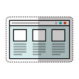 Web page template isolated icon. Vector illustration design Royalty Free Stock Image