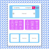Web page template for online store. This illustration can be used for website design Royalty Free Stock Photo