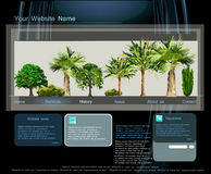 Web page template, Travel  concept Stock Photography