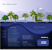 Web page template, Travel  concept Royalty Free Stock Image