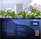 Web page template, Travel  concept Royalty Free Stock Photography