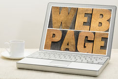 Web page typography Stock Image