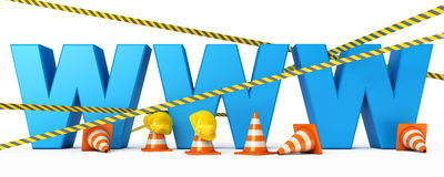 Web page is under construction Royalty Free Stock Images