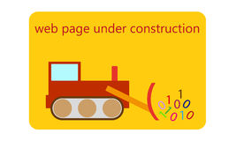 Web page under construction Royalty Free Stock Photography