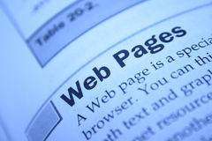 Web pages. Explanation of web pages  and internet  protocol Royalty Free Stock Photography