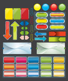 Web pages button set. Web pages and download button set. background vector illustration