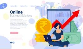 Web-pagina ontwerpmalplaatjes stock illustratie