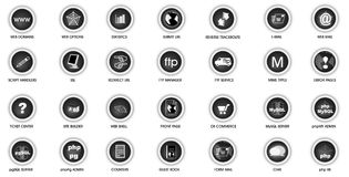 Web panel icon set Royalty Free Stock Photography