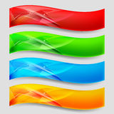 Web Panels. Web Wave Panels Form an Abstract Background Royalty Free Stock Images