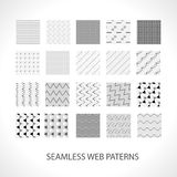 Web patterns set for your works with ready Stock Photo