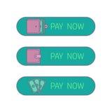 Web payment button Stock Photos