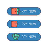 Web payment button Royalty Free Stock Images