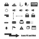 Web , Pc and Mobile Icons set Royalty Free Stock Image
