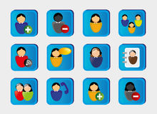 Web people icons Royalty Free Stock Photo