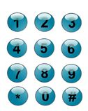 Web phone buttons Royalty Free Stock Photo