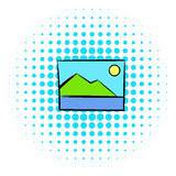 Web picture icon, comics style Stock Photos