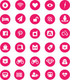 Web Pink icon with Colorful your projects Stock Photo