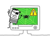 Web pirate royalty free illustration
