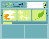 Web-Plan stock abbildung