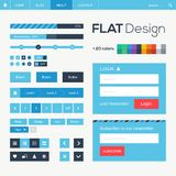 Web plano y elementos móviles del diseño Imagen de archivo libre de regalías