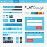 Web plat et éléments mobiles de conception Image libre de droits