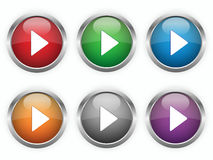 Web play buttons Stock Images