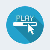 Web player icon vector illustration