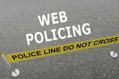 Web Policing concept Royalty Free Stock Image