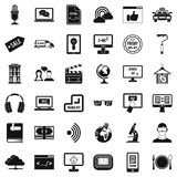 Web presentation icons set, simple style Stock Photo