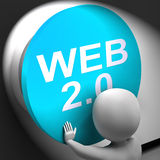 Web 2.0 Pressed Shows User-Generated Website Platform Royalty Free Stock Photography