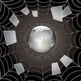 Web preto. Imagens de Stock