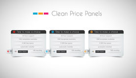 Web price shop panel with space for text and buy now button Royalty Free Stock Photos