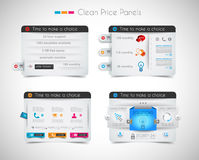 Web price shop panel with space for text and buy now button Royalty Free Stock Photo