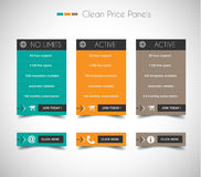 Web price shop panel with space for text and buy now button. Royalty Free Stock Photography