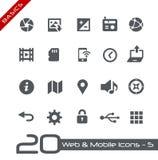 Web & princípios móveis de Icons-5 // Imagem de Stock