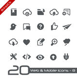 Web & princípios móveis de Icons-8 // Imagens de Stock
