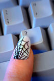 Web Print Woman's Fingernail Reaching for '?' Key Royalty Free Stock Photo