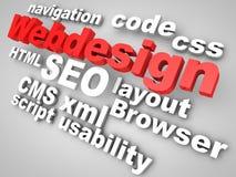 Web-Progetti Immagine Stock