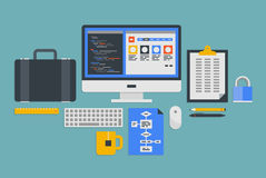 Web programming development vector illustration