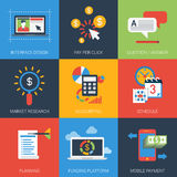 Web project flat style modern icon set Royalty Free Stock Photography