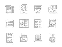 Web publications line icons collection Royalty Free Stock Photography