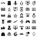 Web purchase icons set, simple style. Web purchase icons set. Simple set of 36 web purchase vector icons for web isolated on white background Royalty Free Stock Images