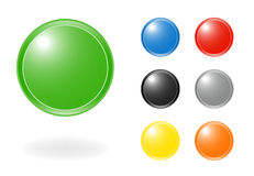 Web push button icon. Vector Illustration Stock Photography