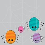 Web que teje de la familia de la araña ilustración del vector