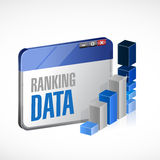 Web ranking stats business illustration design. Over a white background Royalty Free Stock Image